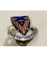 VTG Enamel Lapel Pin Tack The Second First Shield  - $19.80