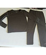 GIRL SIZE S FLEECED LINED BLACK THERMAL UNDERWEAR - $16.00