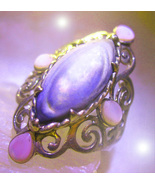 HAUNTED RING GOLDEN OCEANS OF CLEANSING ALL EVIL ROYAL MAGICK OFFERS 7 S... - $227.77