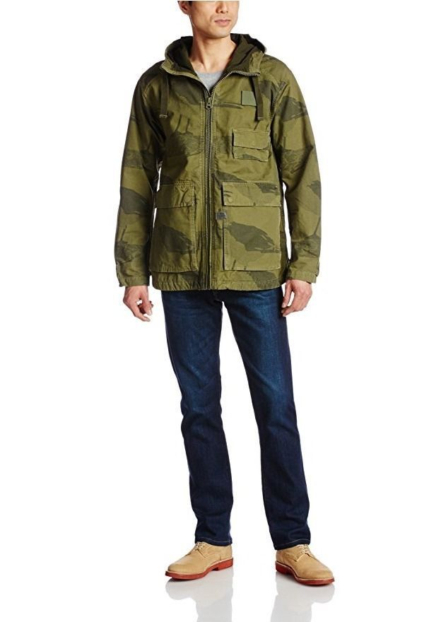 G Star RAW Carber Hooded Jacket in Sage Albatross, Size XXL, BNWT $300 - $127.75