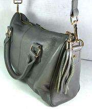 Erica Anenberg Grey Leather Cross Body Satchel Shoulder Bag image 5