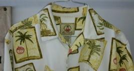 Joe Marlin Original Outfitters Hawaiian Palm Tree Potted Fern Shirt Men'... - $24.74