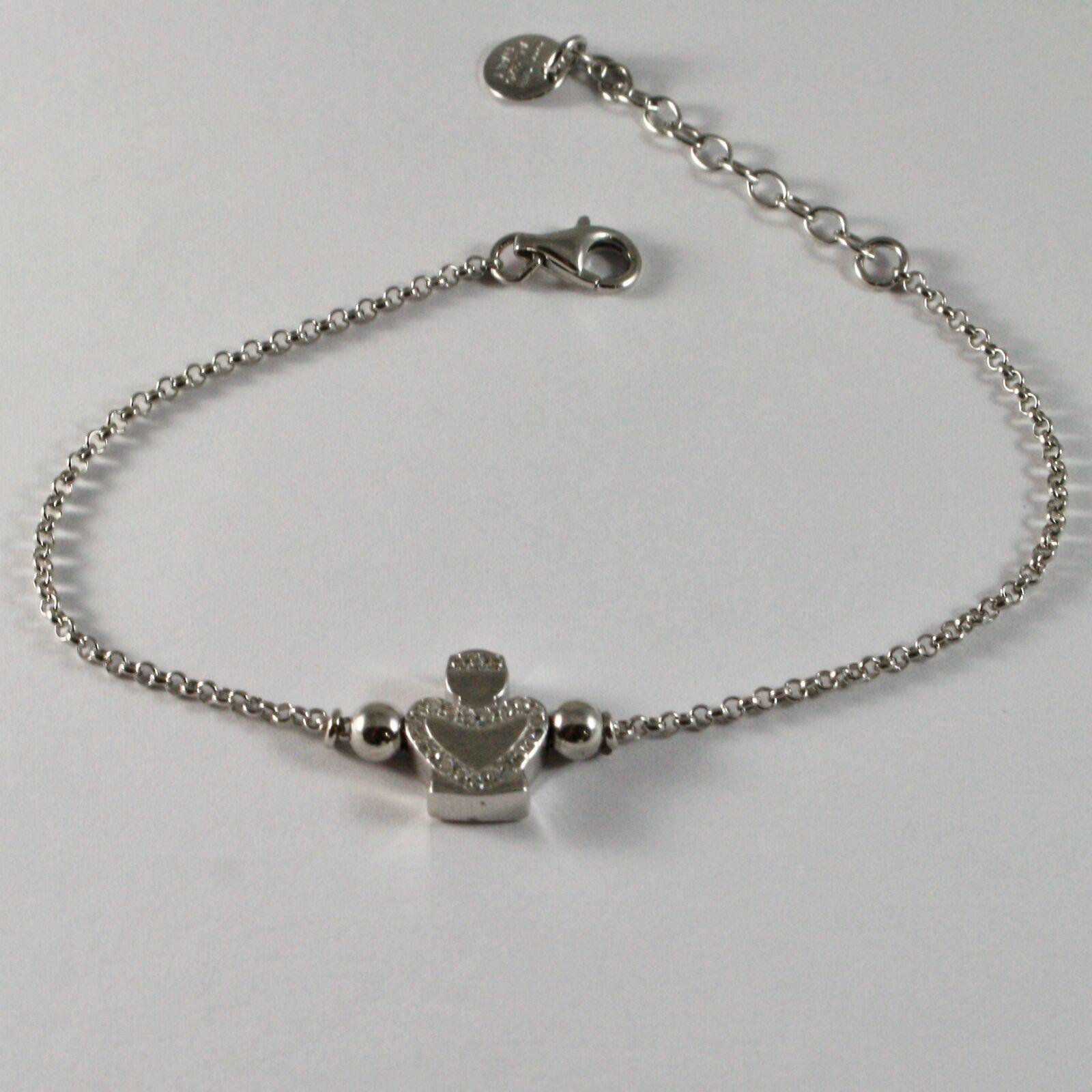 Silver 925 Bracelet Jack&co with Angel Stylized and Zirconia Cubic Jcb0852