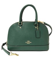 Coach Womens Turquoise Green Leather Sierra Satchel Handbag Purse 8245-2 - $152.45