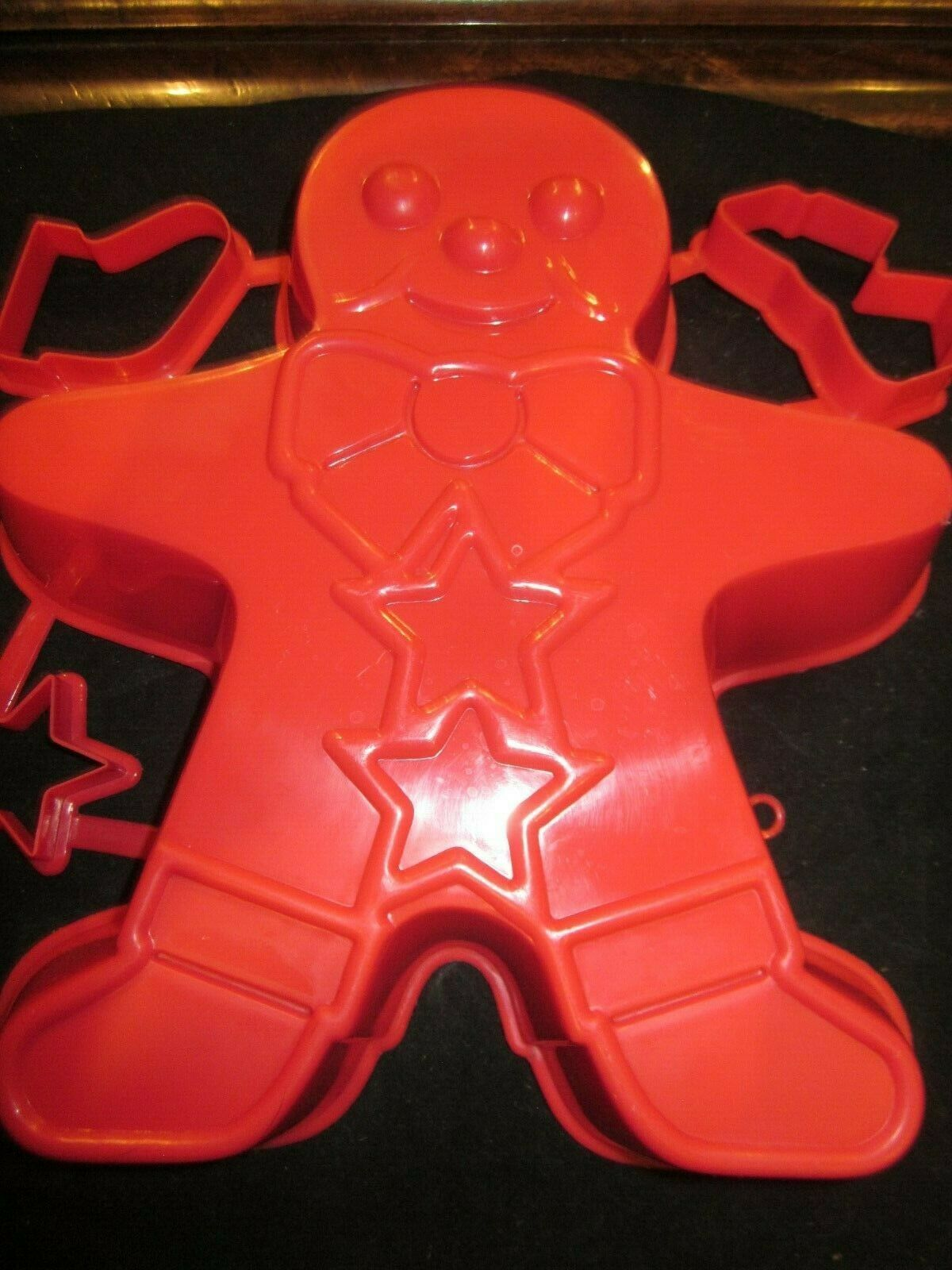 Vintage Large Jll-o Gingerbread Man Mold & Jiggler Cookie Cutters Brand New image 1