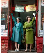 Mrs Maisel dress Mrs Maisel Cosplay Costume green top with cape pencil s... - $99.00