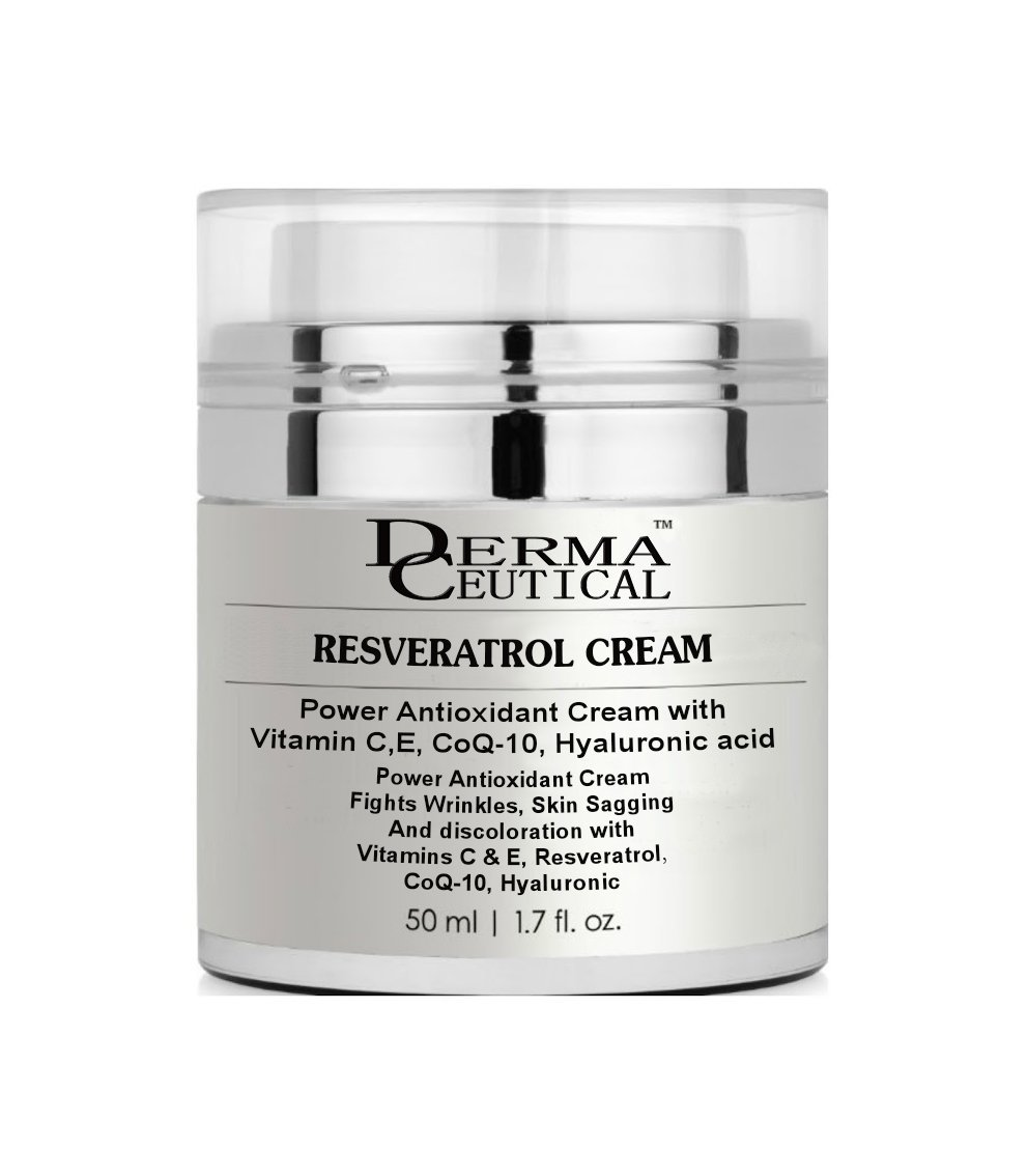 RESVERATROL Antioxidant Cream with Vit C,E,CoQ-10,Hya acid - DermaCeutical - $19.00 - $20.00