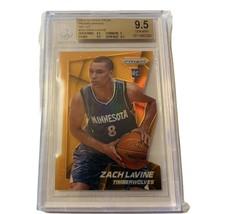 Zach Lavine Rookie RC 2014-15 Prizm Orange die cut #262 BGS 9.5 non auto... - $4,455.00