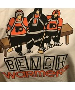 New Adult XL T-Shirt - Philadelphia FLYERS Bench Warmers (3 Players on B... - $19.99
