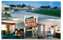 Dunkirk Motel Route 5 Lake Erie Dunkirk New York postcard - $5.89