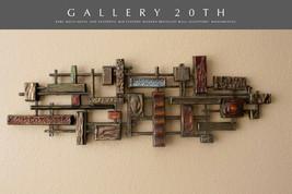 RARE BRUTALIST ABSTRACT WALL ART SCULPTURE! MID CENTURY MODERN ATOMIC DE... - $2,106.00