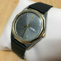 Vintage Citizen Men Dual Tone Leather Analog Quartz Watch Hour~Day Date~... - $31.45 CAD
