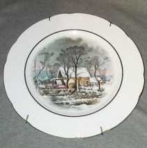 Vintage Avon Collector Plate Winter Homestead Collectible Decorative Wal... - $14.85