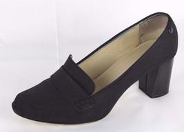 Calvin Klein Onada women's shoes black slip on loafer pump block heel size 8.5 M - $15.79