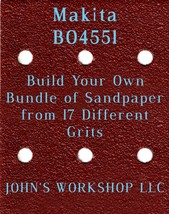 Build Your Own Bundle of Makita BO4551 1/4 Sheet No-Slip Sandpaper - 17 Grits! - $0.99