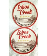 Pottery Barn Set of 4 Appetizer Plates LOBOS CREEK BREWERY IMPERIAL BREW... - $24.00