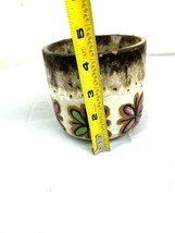 MCM Brown and White Planter Flower Pot Butterflies Home Garden Decor  image 2