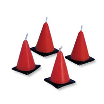 "Construction Cones 1"" x 1 3/4""H Candles Molded Sets, Case of 72 - $59.88"