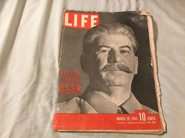 LIFE MAGAZINE-March 29, 1943 STALIN Special Issue USSR - $8.37