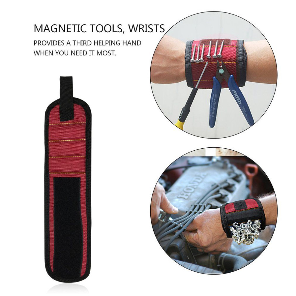 Primary image for Magnetic WristBand Portable Tool Bag  Electrician Wrist Tool Belt Screws Nails D