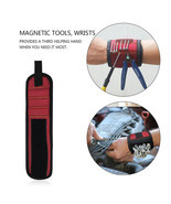Magnetic WristBand Portable Tool Bag  Electrician Wrist Tool Belt Screws... - £11.14 GBP