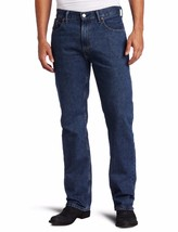 NEW LEVI'S STRAUSS 505 MEN'S ORIGINAL STRAIGHT LEG DARK STONEWASH JEANS 505-4886