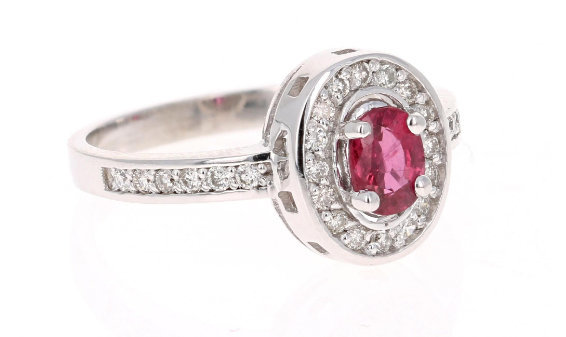 925 Sterling Silver Natural A+ Quality Ruby And Cz Gemstone Handcrafted Design W image 2
