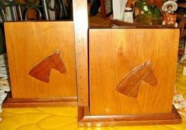 VTG SET WILD WEST PONY HEAD BOOK ENDS BUCKING BRONCO COPPER HORSE PICTUR... - $367.99