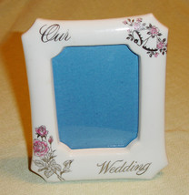 "Vintage ""Our Wedding"" Porcelain Picture Frame - Wedding Gift - $15.00"