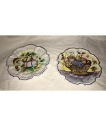 "2 Vintage Lami Italy Fruit Plates Plastic Multi- Color Wall Decor 7.25"" ... - $19.79"