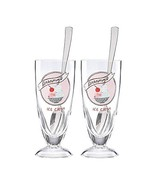 Kate Spade New York All in Good Taste Ice Cream Soda Glasses with Spoons - $36.00