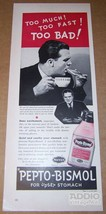 Pepto Bismol '40s PRINT AD upset stomach coffee Norwich vtg advertisemen... - $11.64
