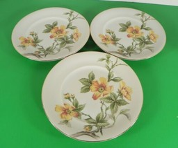 Meito China Norleans SUN GLORY Salad Dessert Plate (s) LOT OF 3 Occupied... - $16.42