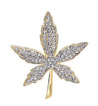 Men&Women Brooch Maple Crystal Brooch Sweater Pins Suit Accessories Badges image 2