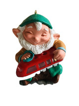Vintage Hallmark Ornament ELFIN ENGINEER PLUG IN LIGHT 1991 with Origina... - $23.36