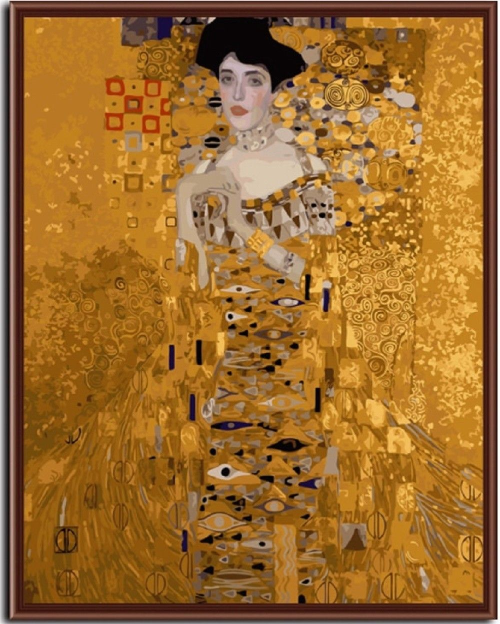 """Mrs. Bauer Klimt 16X20"""" Paint By Number Kit DIY Oil Painting on Canvas Frameless"""