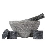 4pc Granite Molcajete Mortar And Pestle Kitchen Cookware Set - €75,49 EUR