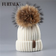 FURTALK Winter Pompom Hat For Kids Ages 2-7 Knit Beanie Winter Baby Hat For - $37.65