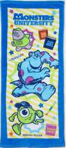 Monster University Cute Cartoon Mike & Sulley 34 X 80 Cm Blue Color Cotton Towel - $10.99