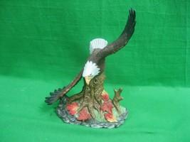 Vintage Bald Eagle Figurine In Flight Landing on Tree - $23.33