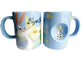 Looney Tunes Bugs Bunny Figure Ceramic Spinner Coffee Mug, NEW UNUSED - $9.74