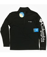 Columbia Men's PFG Deep Waves Quarter Zip Fishing Shirt Black White Long... - $29.99
