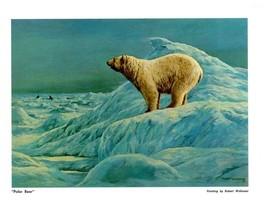 "DUCKS UNLIMITED PRINT ""POLAR BEAR"" Canadian Mallard Pintail DU GROUSE Gr... - $3.95"