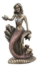 Ebros Under The Sea Mermaid Holding Sconce Sitting On Giant Coral Reef Throne St - $32.65