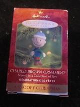 HALLMARK KEEPSAKE ORNAMENT A SNOOPY CHRISTMAS CHARLIE BROWN ORNAMENT BRA... - $9.99