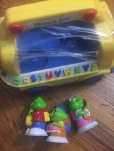 LeapFrog Learning Friends Phonics Bus 3 Characters Complete Tested Educa... - $32.68