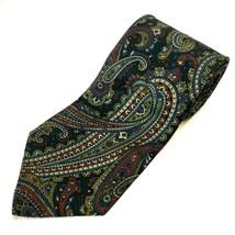 Oleg Cassini Men's Silk Tie 58 X 4 Paisley Vintage - $5.56