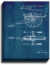 Gatling Machine Gun Patent Print Midnight Blue on Canvas - $39.95+