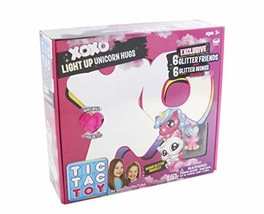 Blip Toys Tic Tac Toy XOXO Pink Light Up Unicorn Hugs & Glitter - $52.15