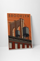 "Brooklyn Travel Poster by Steve Thomas Gallery Wrapped Canvas 16""x20"" - $44.50"